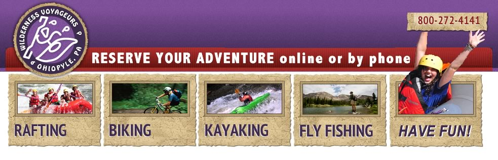 Wilderness Voyageurs Adventure Reservations